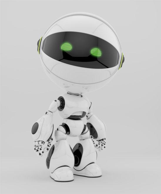 circle bot robot white