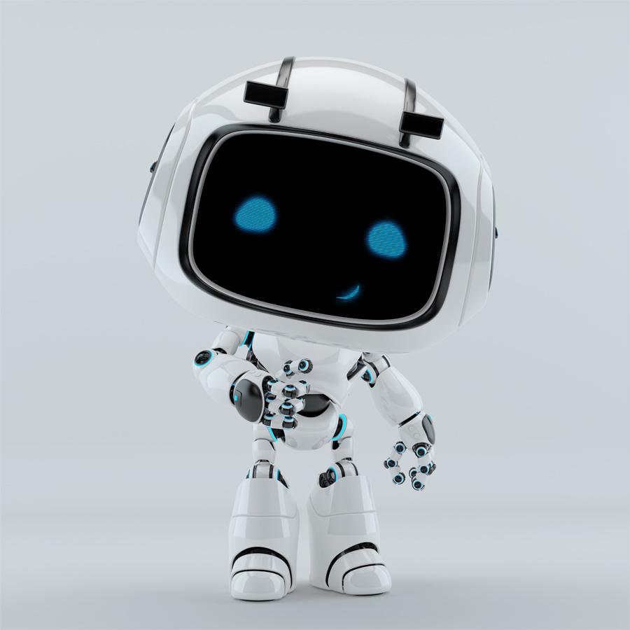White robot unit