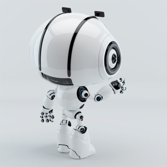 cute robot backwards