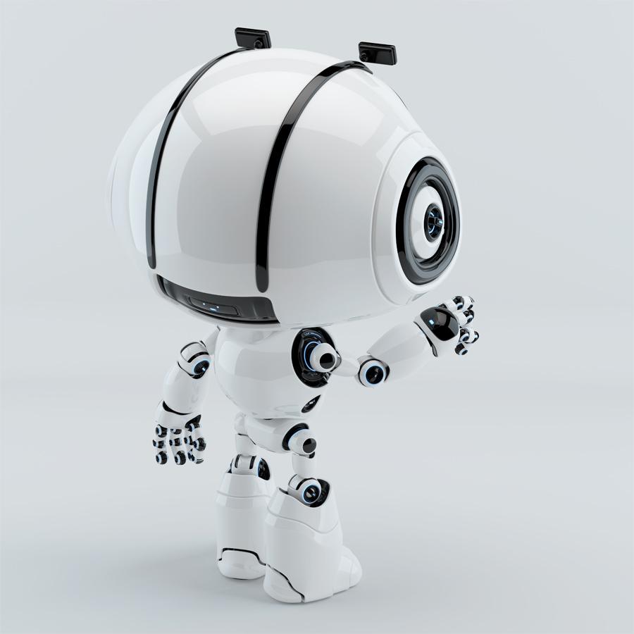 cute robot backwards