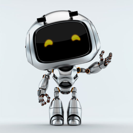 Greeting from silver unit 9 robotic toy