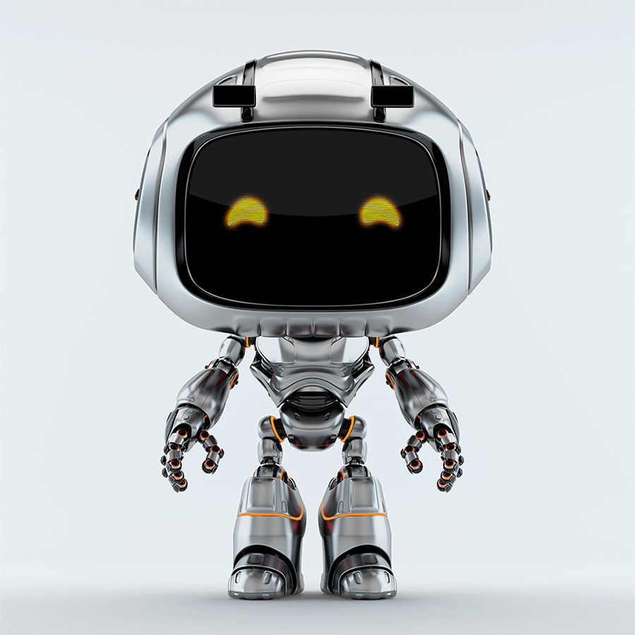 robot unit 9 with beard
