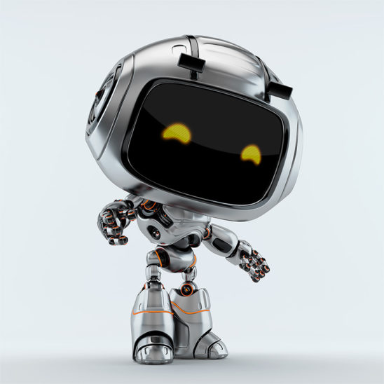 silver robotic unit 9 side
