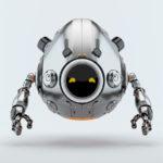 silver robotic egg