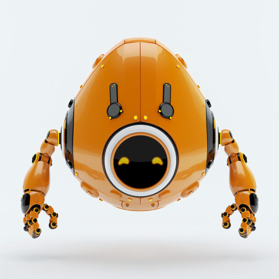 orange juicy robotic egg