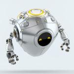 Silver aero egg bot