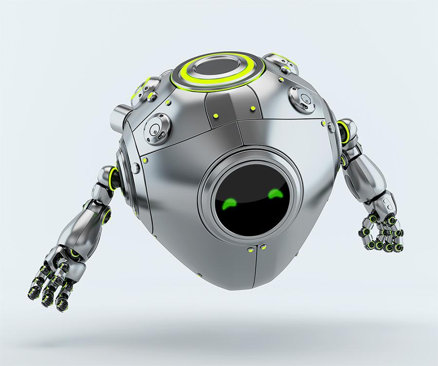 gesturing egg robot