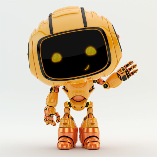 Engineer orange bot greeting