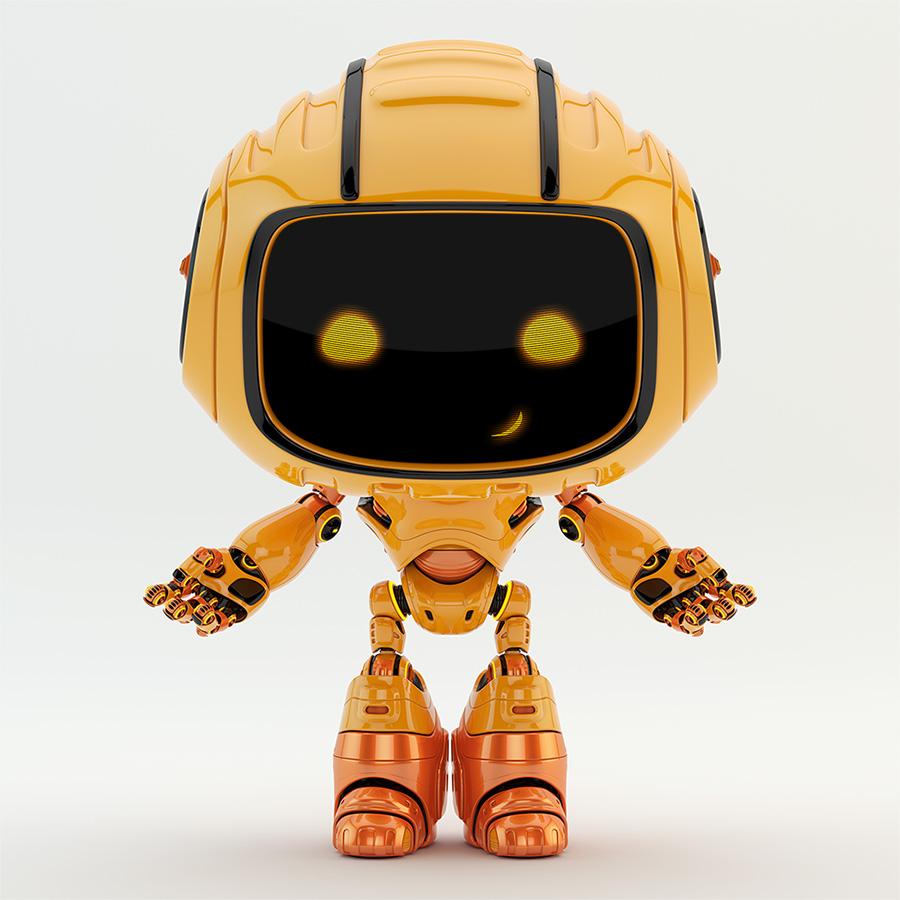 Engineer bot gesturing