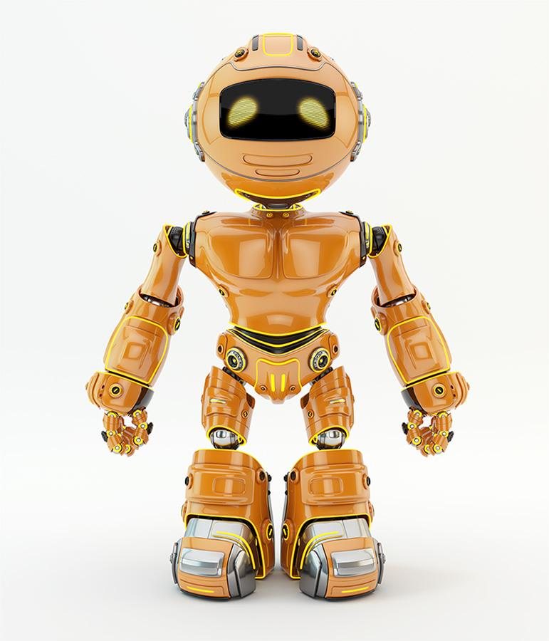 orange brave robotic unit