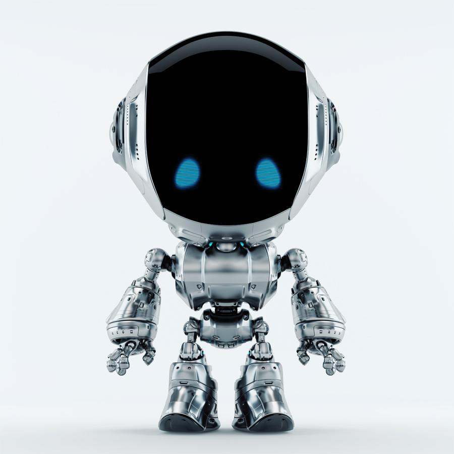 fun silver robot
