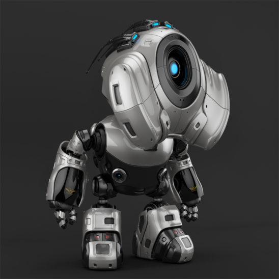 Robot with antennas