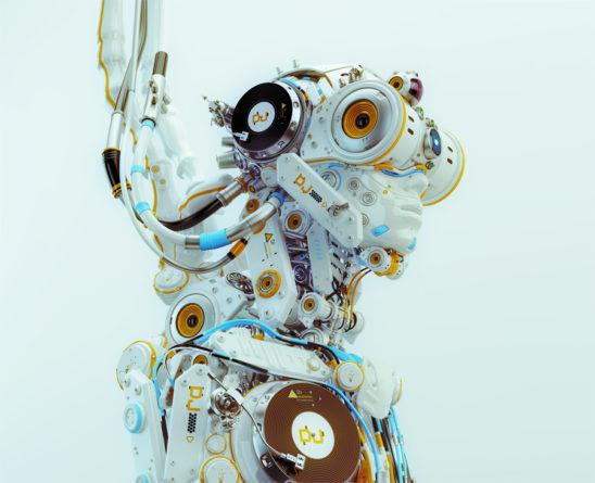 robotic dj musician