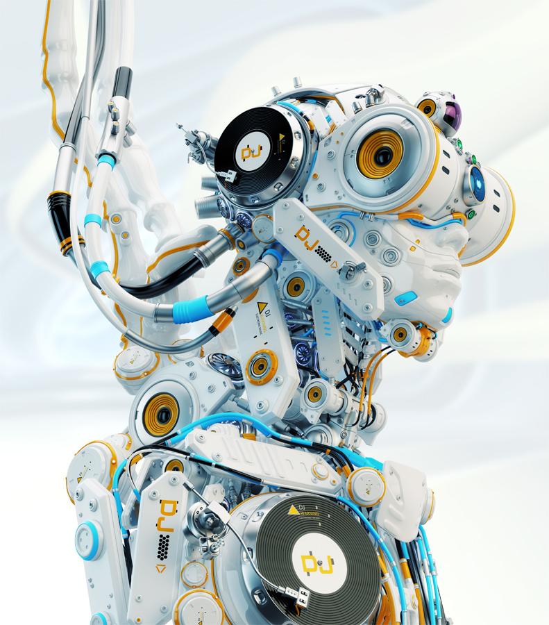 modern robotic dj