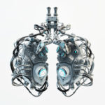 Gray futuristic lungs