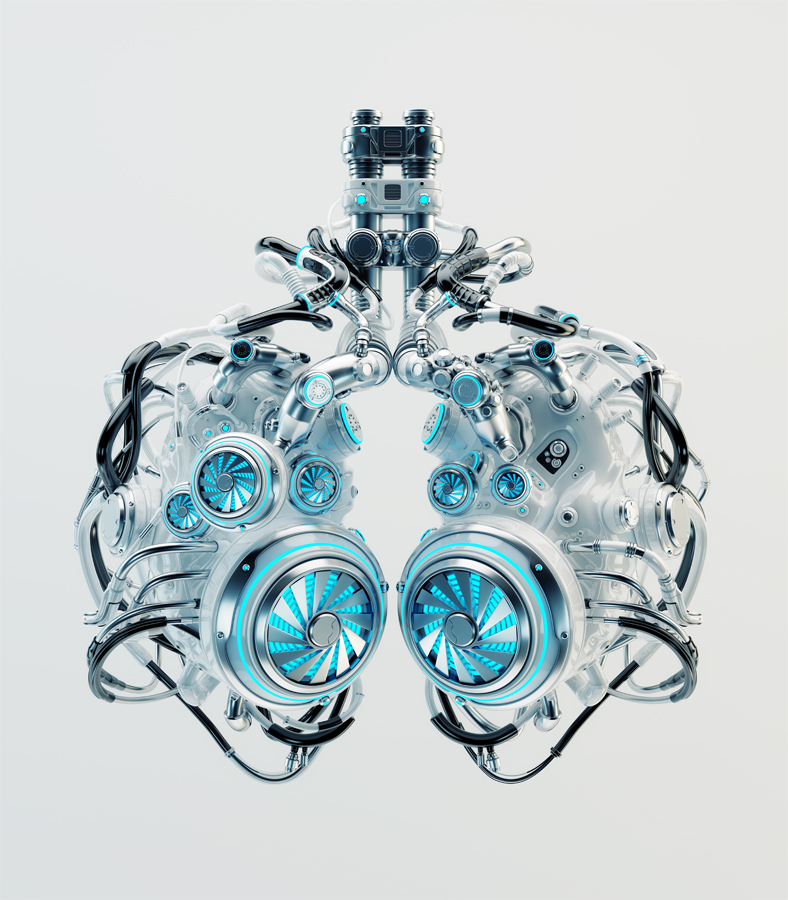 Ventilation system. Robotic lungs