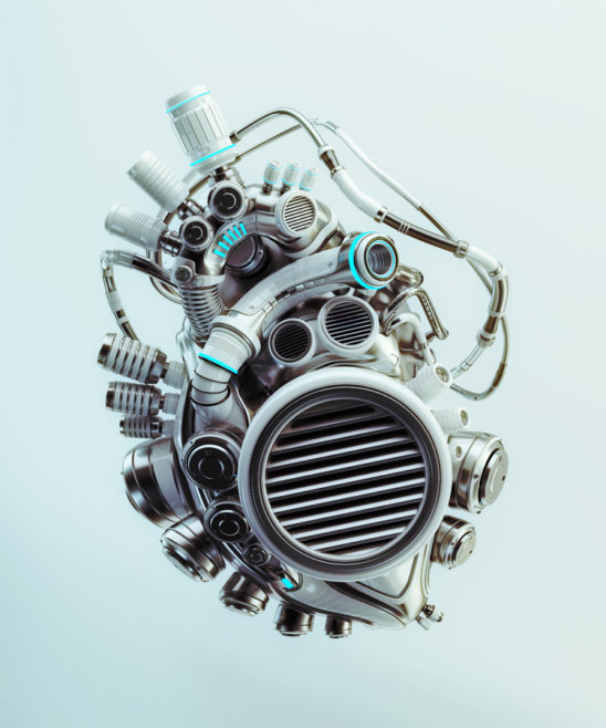 Heart with radiator