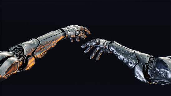 Metal robotic arms