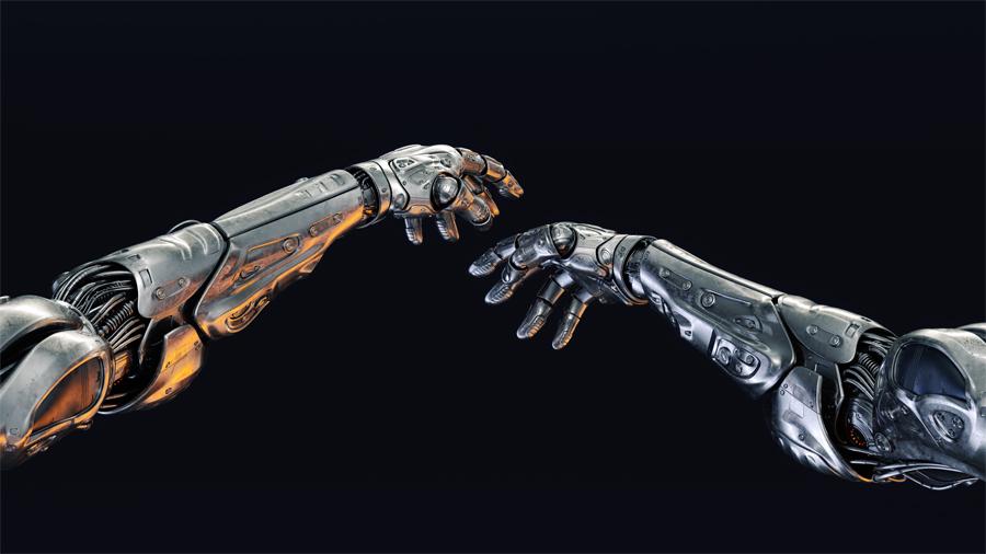 Metal robotic arms