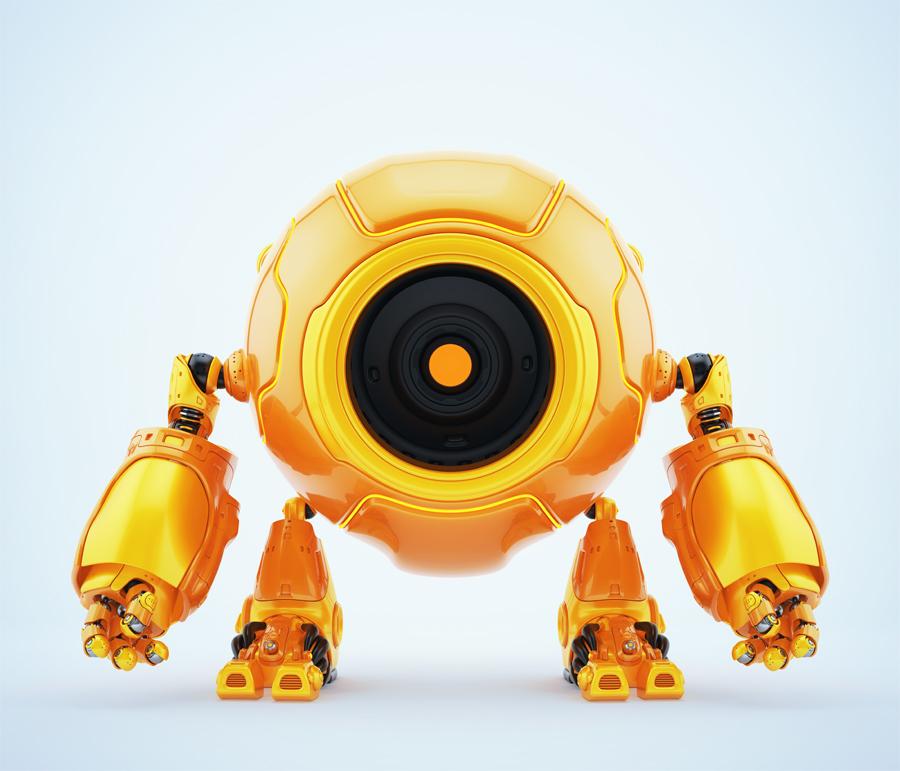 Circleodion - smart robot with big round body-head