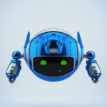 Flying PR robotic toy