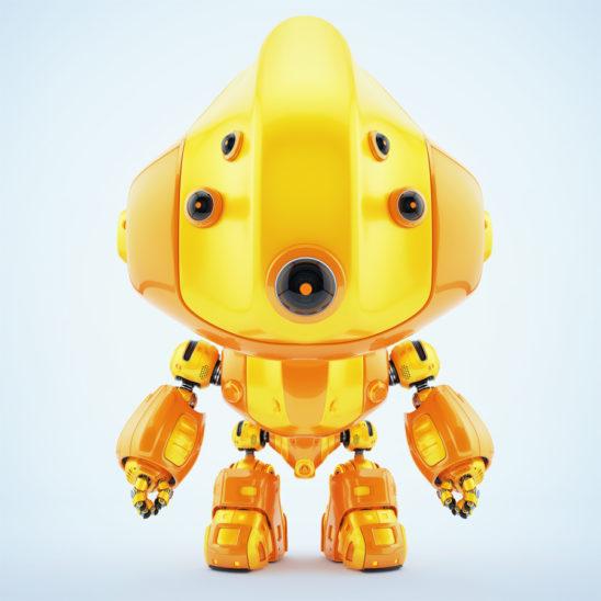 Multi-eyed follow robot