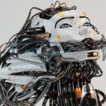 medusa gorgon robot girl with gap on mouth