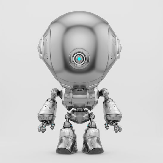 Lovely silver fun bot toy