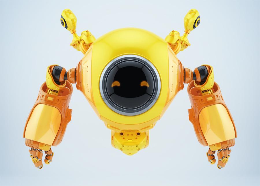 slogger robot with echo locators
