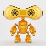 smart look-see robot with eyes binoculars
