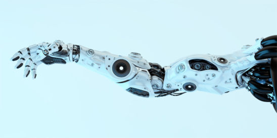 White robotic arm