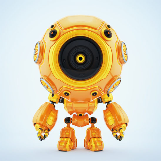 Smart robotic toy - orange diver in special suit