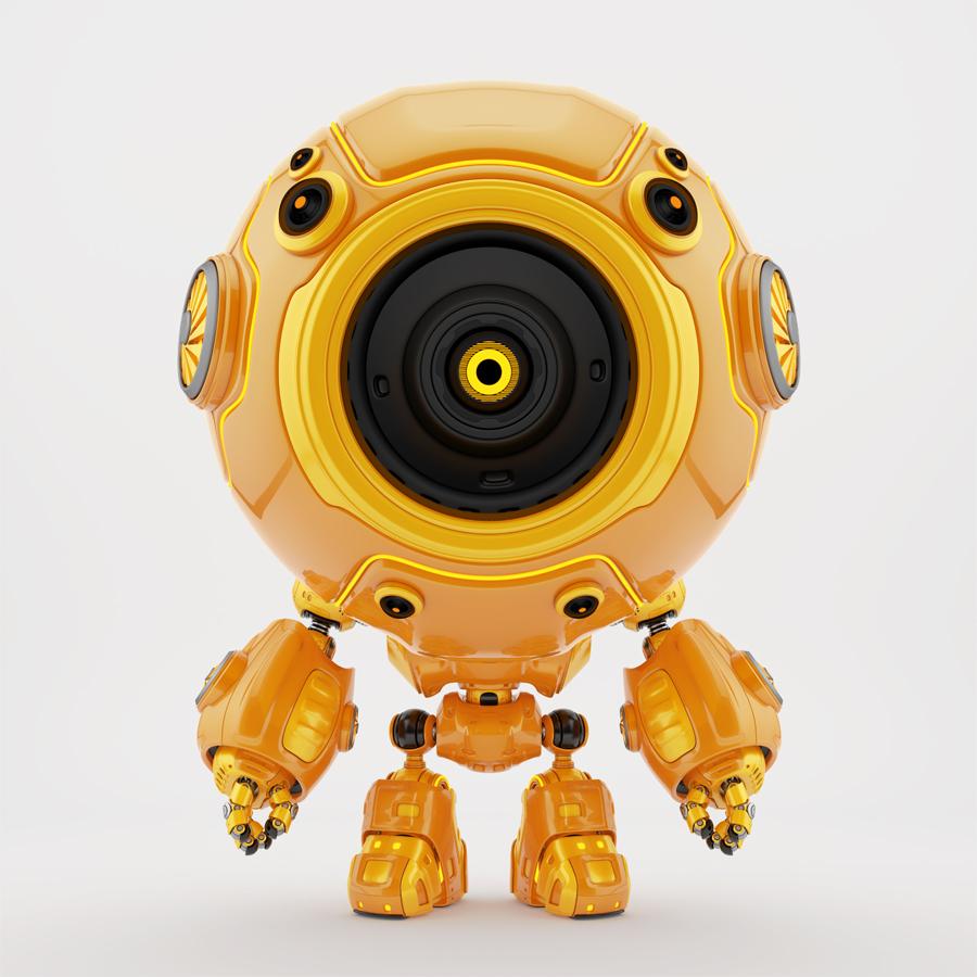 Smart robotic toy - orange diver in special suit