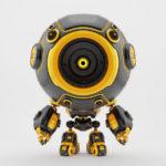 Smart robotic toy - black-orange diver in special suit