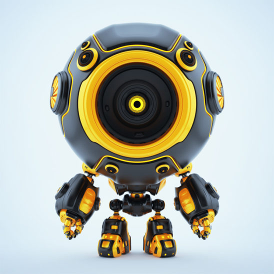 Smart robotic toy - black-orange diver in special suit