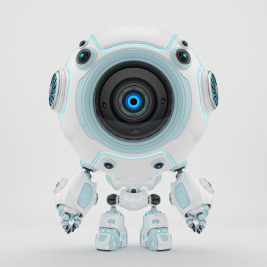 Smart robotic toy - white-blue diver in special suit