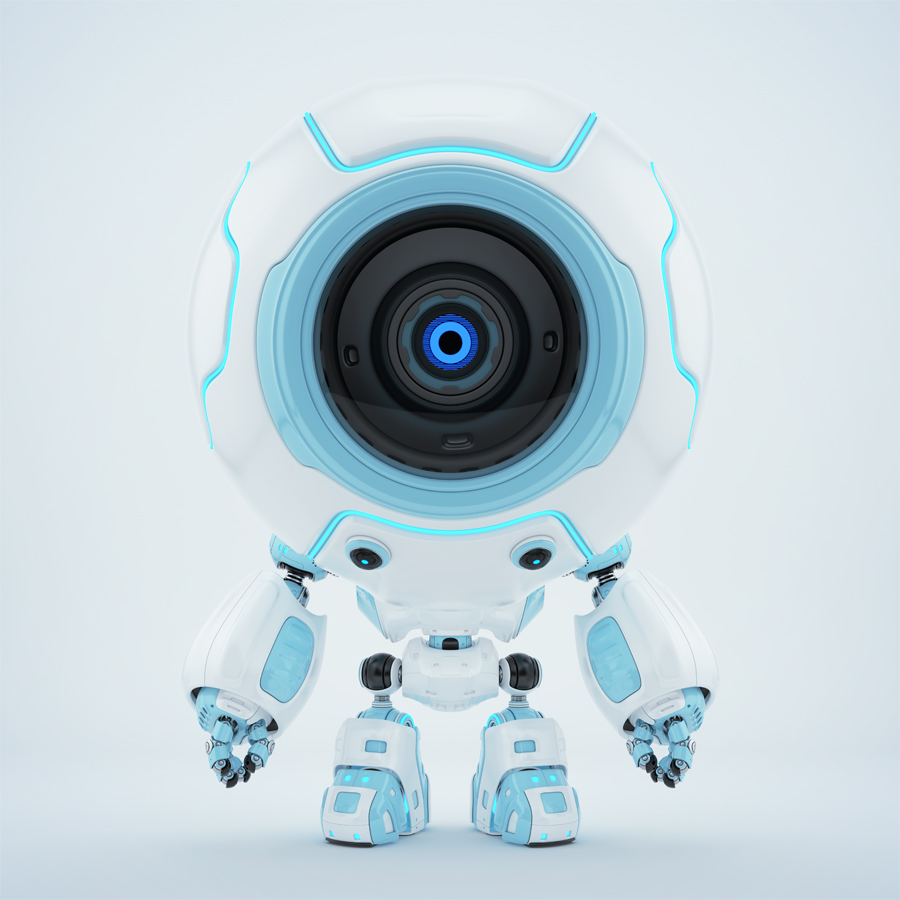 Ball shaped robotic toy - white-blue diver in special suit