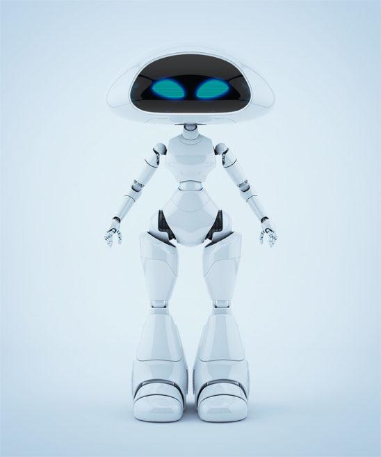 Lovely ufo robotic girl character