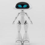 Lovly ufo robotic girl character