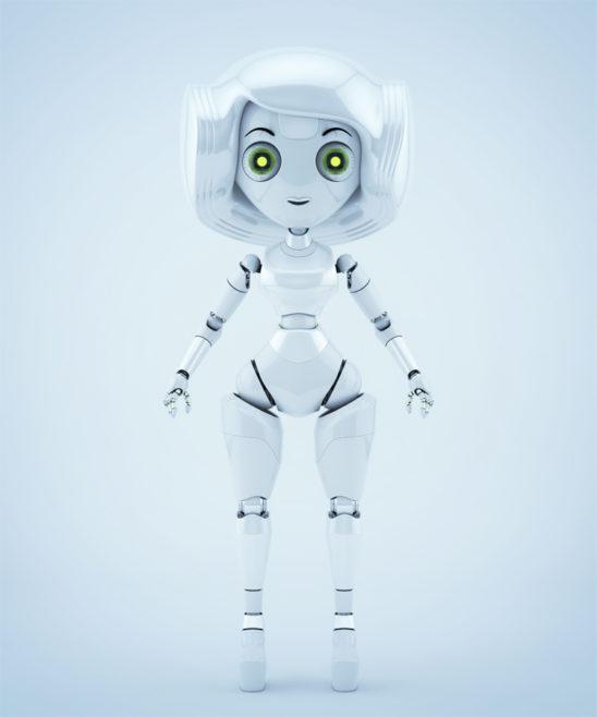 Trendy robot girl