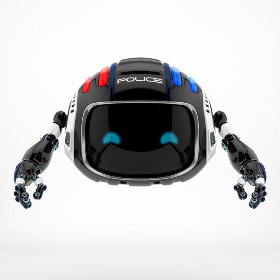 Cutan aerial policeman robot