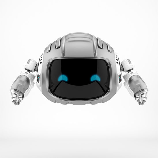 Nice steel aerial robotic character