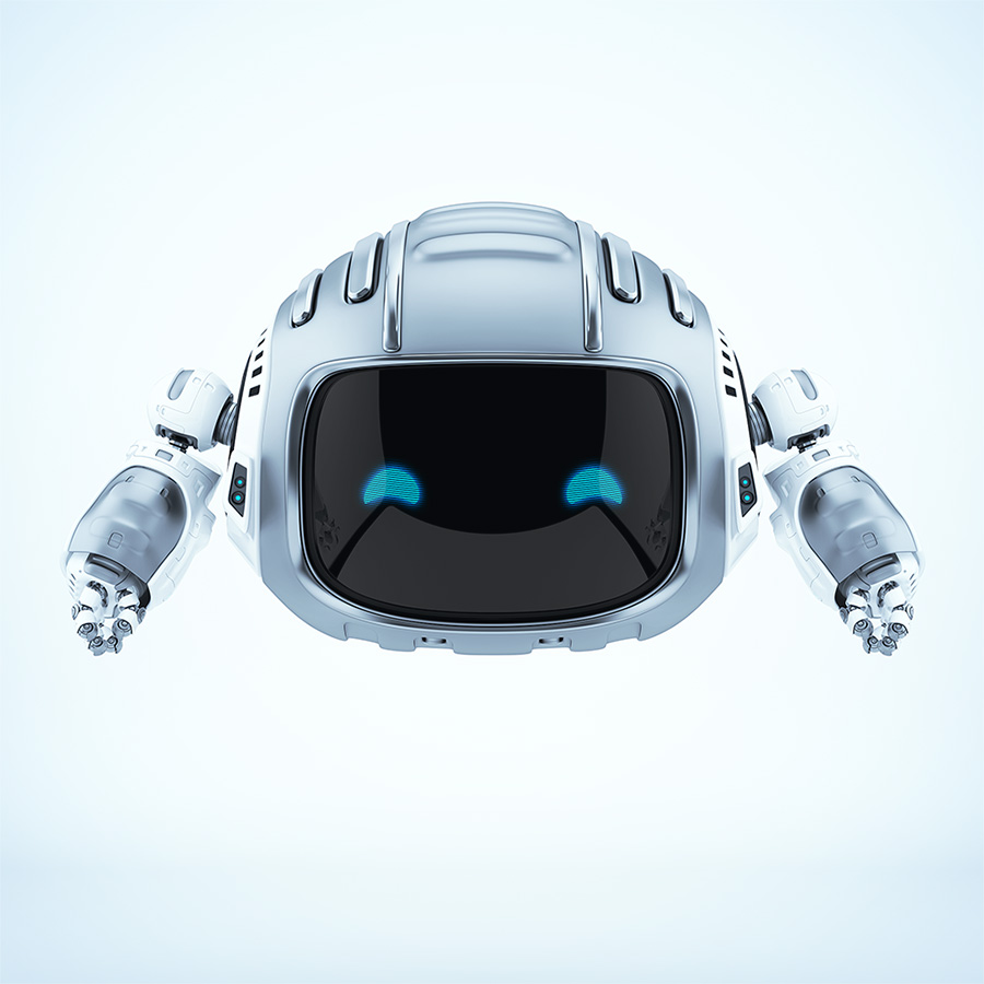 Nice steel aerial robotic character CUTAN