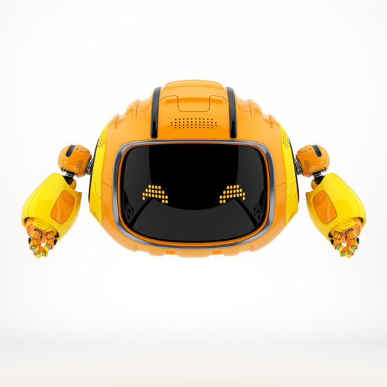 Bright orange Cutan aerial robot