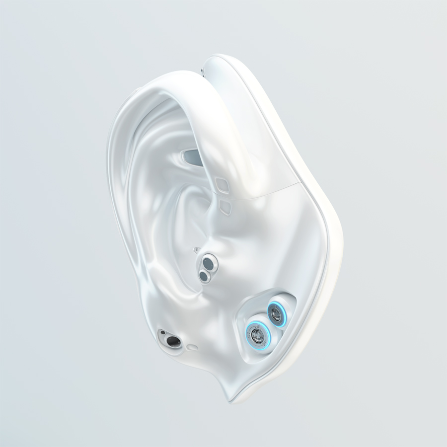 White cyber ear replacement part