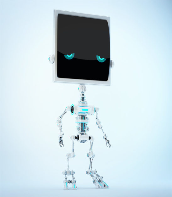 Sad bone robot
