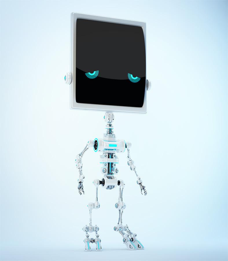 Sad bone robot