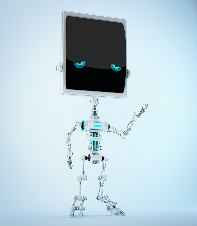 Greeting bone robot