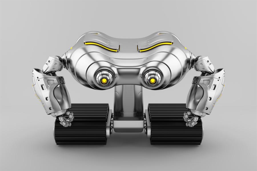 Look-see robots on tracks