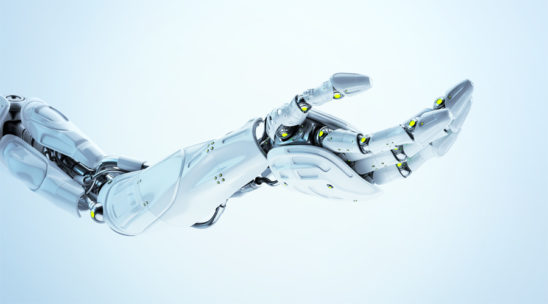 Artificial futuristic robotic arm